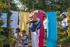 The Color run - Mamaia 2015, Romania. MAMAIA, ROMANIA - AUGUST 1, 2015. Happy unidentified people at The Color Run 2015.The Color Run is a worldwide hosted fun royalty free stock photo