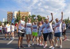 The Color run - Mamaia 2015, Romania Royalty Free Stock Photos