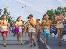 The Color run - Mamaia 2015, Romania Stock Photo