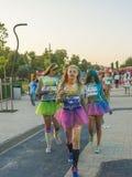 The Color run - Mamaia 2015, Romania Stock Photos