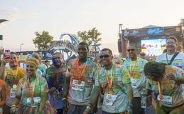 The Color run - Mamaia 2015, Romania Stock Image