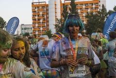 The Color run - Mamaia 2015, Romania Royalty Free Stock Photo