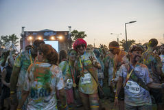The Color run - Mamaia 2015, Romania Royalty Free Stock Images