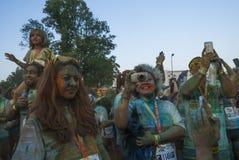 The Color run - Mamaia 2015, Romania Stock Images