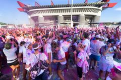 The Color Run 2013 in Milan, Italy Royalty Free Stock Images