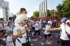 Color Run Participants Royalty Free Stock Image