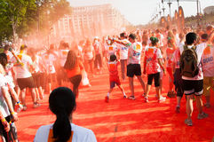 Color run people Royalty Free Stock Images