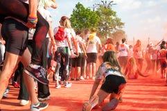 Color Run people Stock Photo