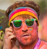 The Color run in Prague, Czech republic stock photography