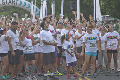 Color Run Racers Eager to Begin Royalty Free Stock Photography