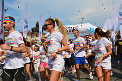 Color Run start Royalty Free Stock Image