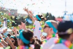 The Color Run Tropicolor World Tour 2016 Royalty Free Stock Photography