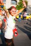 Color run woman Stock Photos