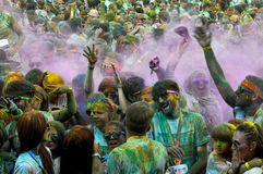 The Color Run is a worldwide hosted fun race. In Cluj Napoca Romania Royalty Free Stock Image