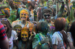 The Color Run is a worldwide hosted fun race. In Cluj Napoca Romania Royalty Free Stock Photography