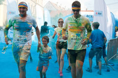 The Color Run is a worldwide hosted fun race Stock Photos