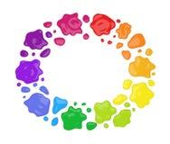 color runda färgstänk för målarfärg Royaltyfri Bild