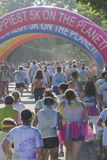 Color Runners Reach the Finish Line Royalty Free Stock Images