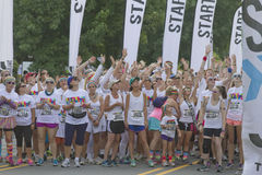 Color Runners Ready to Go Royalty Free Stock Image