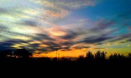 Color& x27 s μαγικό του ηλιοβασιλέματος στοκ φωτογραφίες