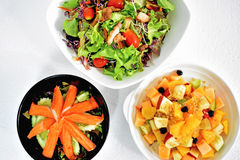 Color of salads Royalty Free Stock Photos
