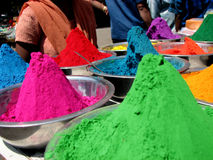Color Sale. Colors for sale on the festive occasion of holi in India Stock Image