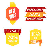 Color Sale Banner Set. Vector Stock Photography