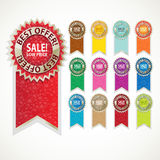 Color sale label set Royalty Free Stock Photos
