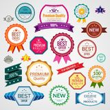 Color sale labels set Royalty Free Stock Photo