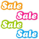 Color Sale Stickers Set Royalty Free Stock Photography