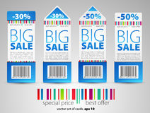 Color sale tickets Royalty Free Stock Image