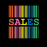 Color Sales barcode Royalty Free Stock Photography