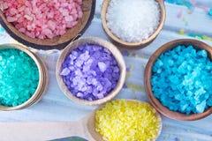 Color salt stock images