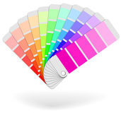 Color sample catalogue sheaf. Icon  on white background Stock Photo