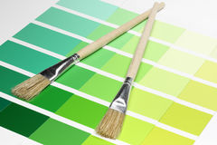 Color Sample Charts Royalty Free Stock Image