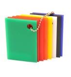 Color Sampler Glossy Palette Stock Photo