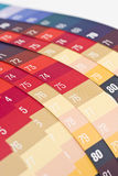 Color samples. With numbers on Stock Photo