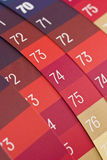 Color samples. With numbers on Stock Photography