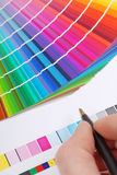 Color samples Stock Images