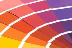 Color samples Stock Photography