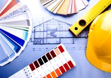 Color samples & Architecture Royalty Free Stock Photo