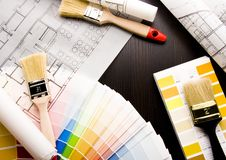Color samples & Architecture Royalty Free Stock Photography