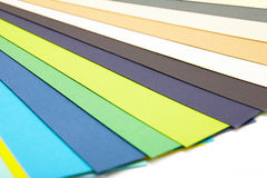 Color samples of cardboard Stock Photography