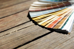 Color samples for design project Stock Photos
