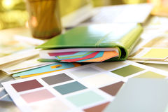 Color samples for design project Stock Image