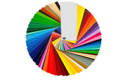 Color samples isolated over white royalty free stock images