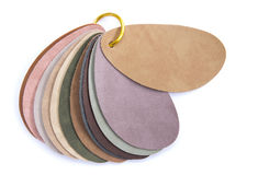Color samples of leather Royalty Free Stock Photo