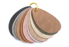 Color Samples Of Leather Royalty Free Stock Photography