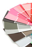 Color samples for painting Stock Image