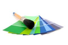 Color samples for painting Royalty Free Stock Images